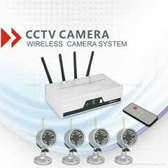 4ch digital realtime dvr cctv system wireless camera (Hot Product - 1*)