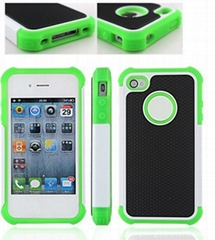 triple box defender robot case protective cover for Apple iPhone 4 4S