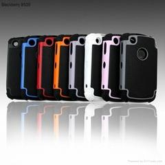 Wholesale tpu+pc Box defender Case For blackberry 8520