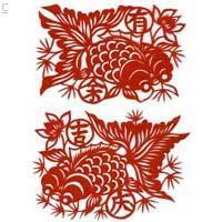 Papercutting-gold fish