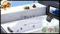 15.6'' 浴室电视黑色银三