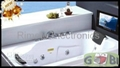 15.6 inch Bathroom TV with Black White