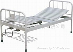 BCA-121 DOUBLE-ROCKER BED WITH STEEL TUBE BED HEAD