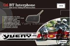 G6 BT multi interphone bluetooth motorcycle helmet headset