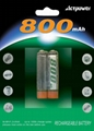 2pcs Ni-MH AAA 800mAh rechargeable batteries