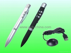 RC lazer pointer/wireless remote control laser pen/power pointer with ball-pen