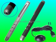 pc remote control laser cordless presenter for powerpoint with AAA battery