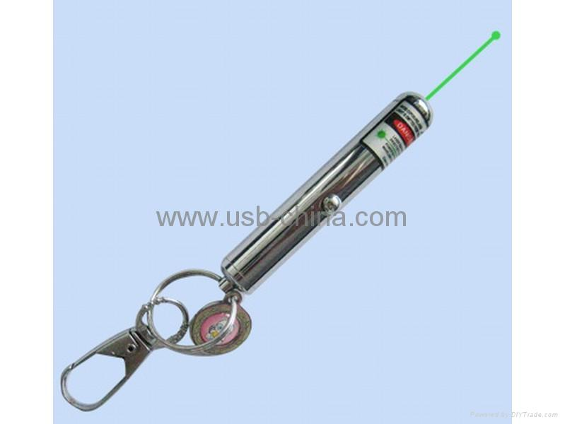 Green Laser pointer/presenter /pen  with keychain-good sports presents 1