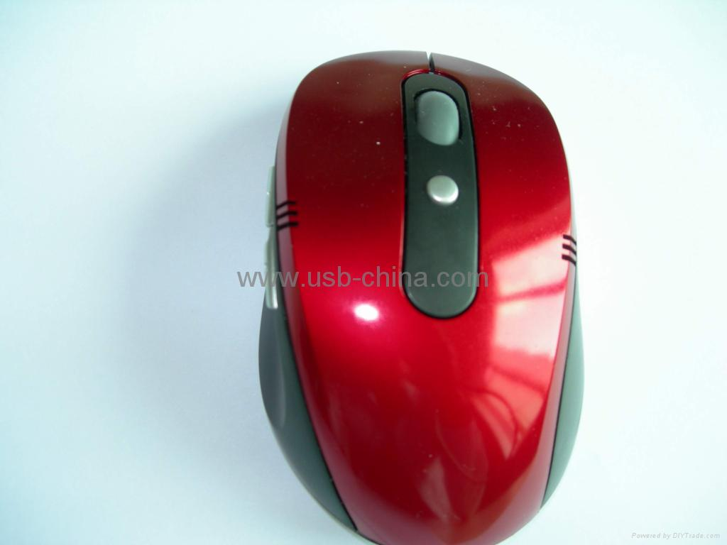 ♥2.4GHz digital RF wireless mouse(the receiver can be hidden) 2