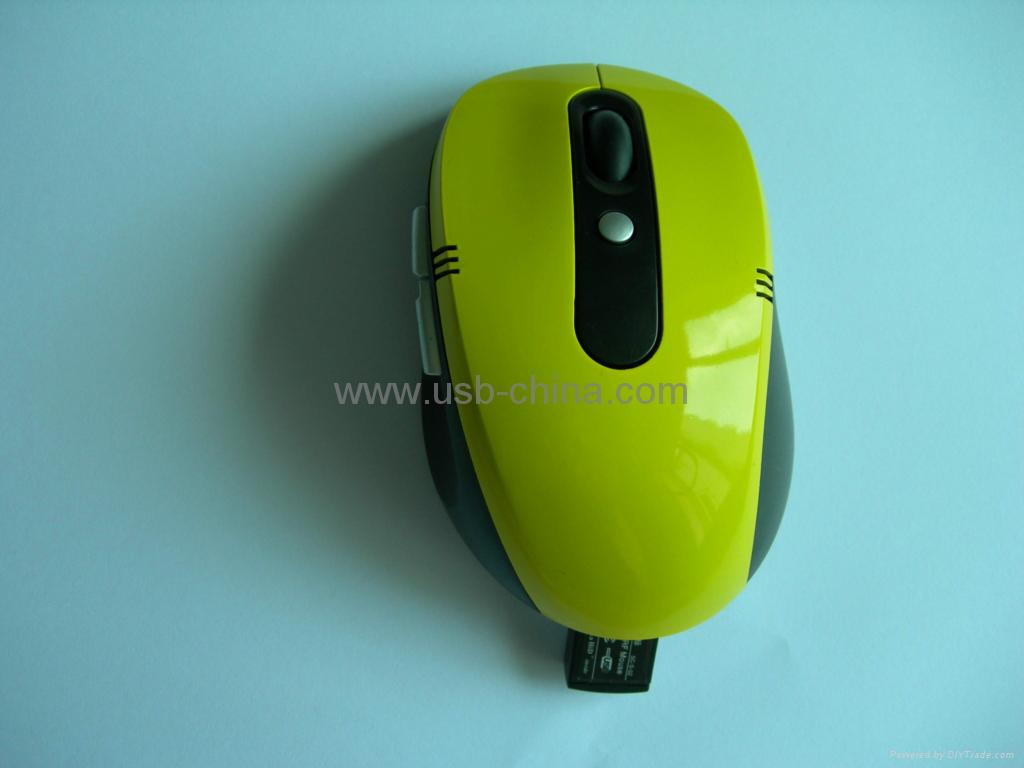 ♥2.4GHz digital RF wireless mouse(the receiver can be hidden) 3