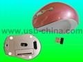 fashion 2.4Ghz  RF digital wireless mouse/cordless mice( mini receiver) 1
