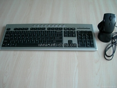 ♥2.4Ghz cordless digital RF mouse and keyboard combo