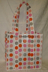 Nonwoven+PP shopping bag,dot fabric small size