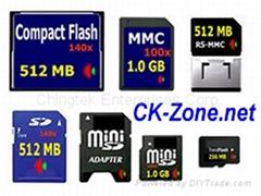 Flash Memory cards in Taiwan - SD, mini SD, Micro SD (T-Flash), MMC, MMC Mobile