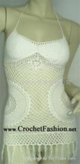 Sexy Design Crochet Mini Dress Tank Top