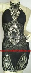 Hand Crochet Sexy Fashion Designer Party Dress
