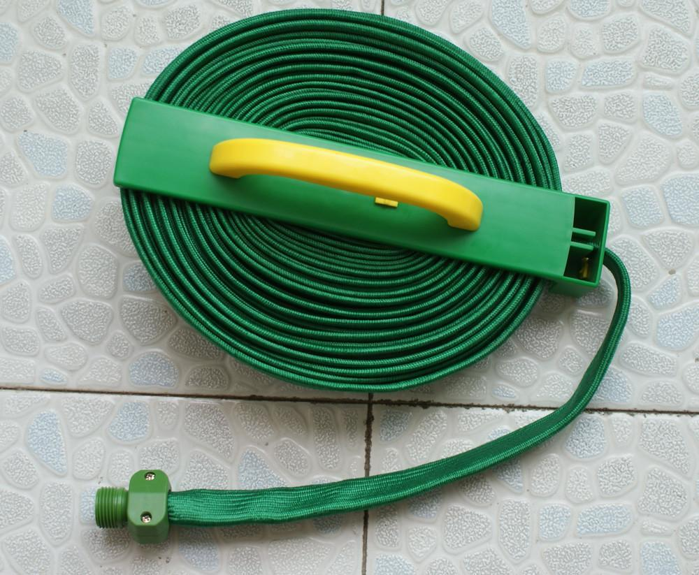 Flat Garden Hose Reel with Canvas