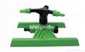 THREE-ARM ROTATING SPRINKLER W/H-SHAPE BASE