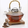 Bamboo handle teapot