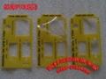 丝印磨砂PVC五金冲压标识垫片 丝印1MM厚PVC镜片铭牌标 4