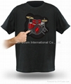 T-Shirt Sound Activated Flashing T Shirt Light Up Down Music Party Equalizer LED