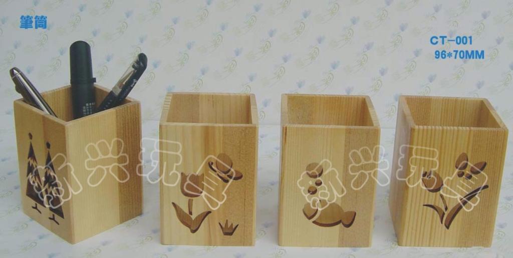 实木烫花笔筒 1