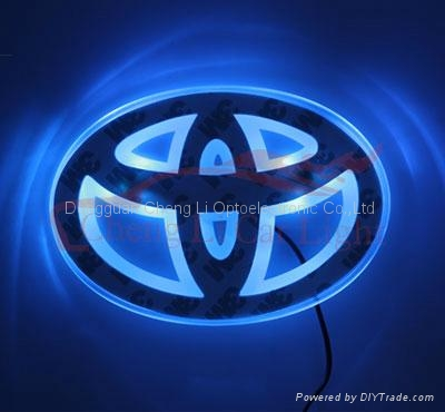 Toyota Logo on Car Logo Toyota Price Min Order Keywords Led Car Logo Led Toyota Logo