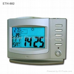 Weather Forecast Calendar Clock with Digital Recorder