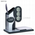 Multifunction LCD Clock with Pen Holder