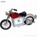 Motorcycle Model Metal Miniature Clock