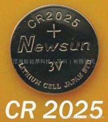 CR2025(Newsun品牌)锂锰扣式电池