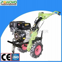 9HP gasoline cultivator with big metal wheel