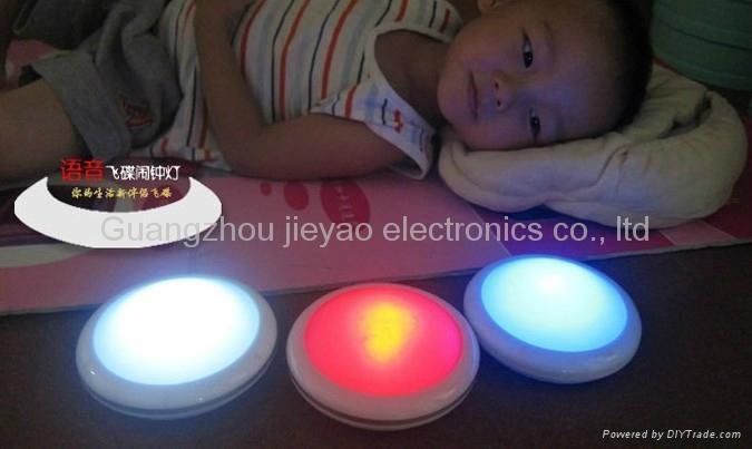 UFO Night light with talking clock 2