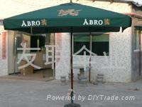 供应3M方形木制庭院伞,沙滩伞,太阳伞