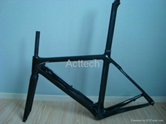 Carbon road racing frame, 3K/12K/UD, clear/matt coating, 51cm