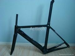 Carbon road racing frame, 3K/12K/UD, clear/matt coating, 51cm