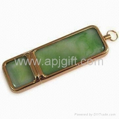 Jade Shaped USB Flash Stick with LOGO