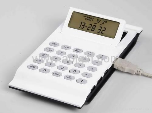 Modern Calculator LCD Calendar with USB Hub - Polling for IT world comp oct 2012
