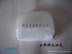 夹网PVC化妆袋