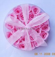 25朵玫瑰皂花入圆形盒