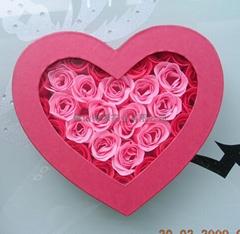 30朵玫瑰花入心型彩盒
