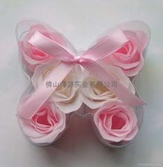 肥皂花入蝴蝶形PVC盒
