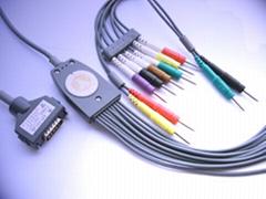 Fukuda one-piece EKG cable