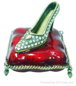 shoes jewelery box,trinket box,craft,gift 1