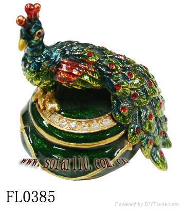 Peacock jewelery box,jewelery case,trinket box 1