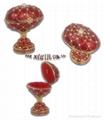 Faber egg jewelery box,music trinket box,craft,gift 3