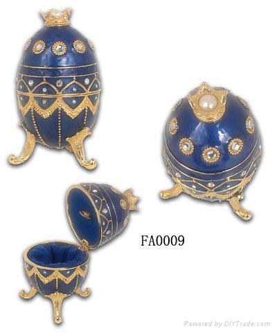 Faber egg jewelery box,music trinket box,craft,gift 5