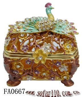 Peacock jewelery box,jewelery case,trinket box 2
