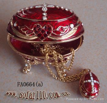 Faber egg jewelery box,trinket box,craft,gift 4