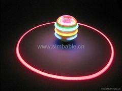 spinning top with music and light
